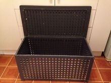 Handy Grey Wood Seat&Storage/Blanket Indoor/Outdoor Box with Lid Coogee Eastern Suburbs Preview
