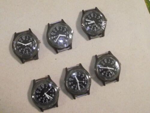 Lot of 6 pieces Vintage , Model Type US military Vietnam War, Olive Drab watch.