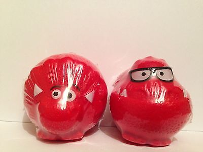 Comic Relief Red Nose Day 2013 diNOSEsaurus red noses x2- T-Spex & Triceytops