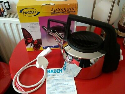 BNIB VINTAGE RETRO HADEN STAINLESS STEEL AUTOMATIC ELECTRIC KETTLE