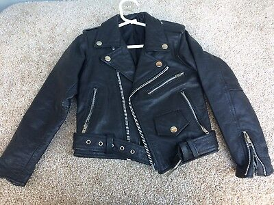 Разное jacket leather black child's small