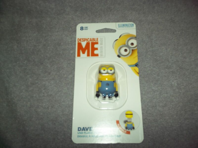 EP Memory Despicable Me Minion Dave 8GB USB 2.0 Flash Drive Yellow DM2-DAVE/8GB