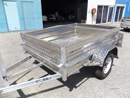 BRAND NEW 7X4 ALUMINIUM HIGH SIDE BOX TRAILER NEW TYRES & RIMS Brisbane South East Preview