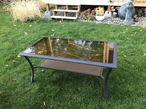 Outdoor table, glass top 40X22