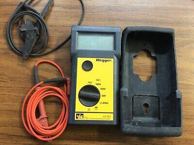 Ideal 61-791 Meggar Insulation Tester 600 Volt Meter Used