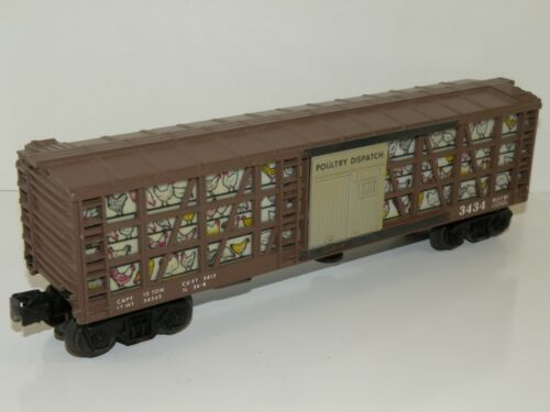 Lionel PW 3434 Poultry Dispatch Operating Stock Car (Repro Figure)