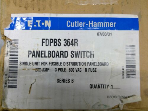 Eaton / Cutler-Hammer FDPBS364R 200A 600V Fused Disconnect **Free Shipping**