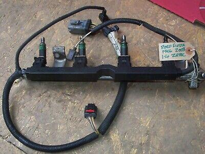 FORD FIESTA MK6 2003 1.4 FUEL INJECTOR RAIL INJECTORS & LOOM
