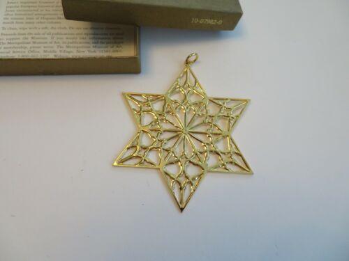 Vintage 1998 Metropolitan Museum of Art MMA Sterling/Gold Star Ornament Orig Box