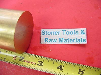 2 C360 Brass Round Rod 2 Long Solid H02 Lathe Bar Stock 2.00 Od X 2
