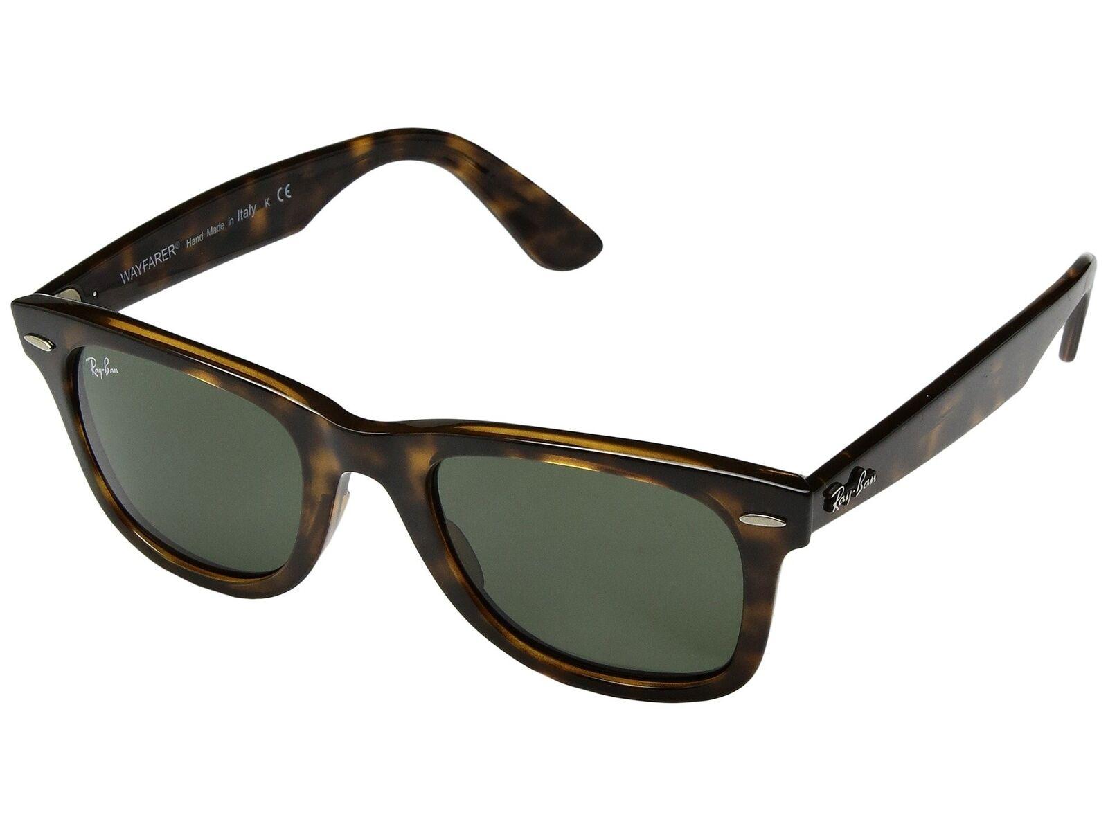 6fcc0786fd Ray Ban Wayfarer RB4340 710 50MM Tortoise   Green 50mm Sunglasses
