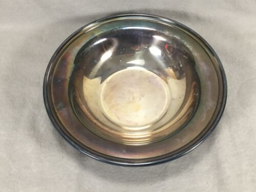 """VINTAGE Reed & Barton Silver Plated Bowl #1217, 9 7/8"""", """"C"""" Monogrammed"""