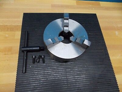Interstate 3 Jaw Self-centering Lathe Chuck 8 Dia. Plain Back Mount 08550741
