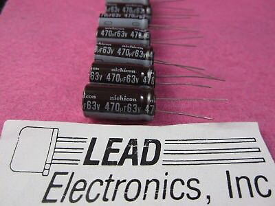 8 Pcs Nichicon 470uf 63v Radial 105-deg Temp Ups1j471mhd 470mfd 63-volt