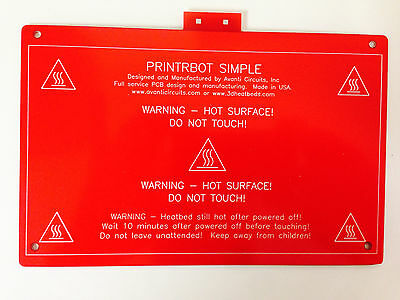 Heatbed Pcb For Printrbot Simple 4.65 X 7.25 Heated Bed For 3d Printing.