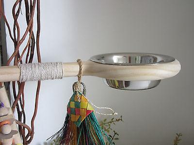 Bird Perch, feeder bowl Great gift , small to medium parrots parakeets,conures,