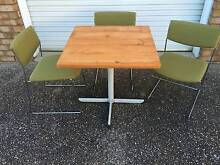 Cafe style pine table and chairs Bridgeman Downs Brisbane North East Preview