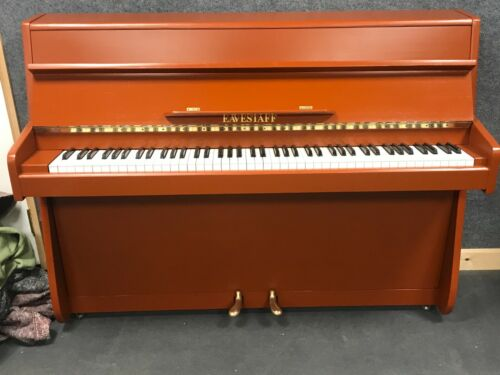Eavestaff Upright Piano - Resprayed Terracotta Case - English - WE CAN DELIVER