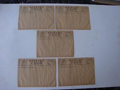 Lot Of 5 Unused Blank 1951 Western Union Telegram Sheets Pages Original