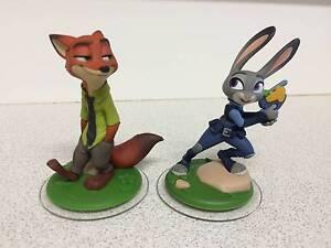 ZOOTOPIA Disney Infinity 3.0 Figures - Judy Hopps and Nick Wilde Nundah Brisbane North East Preview