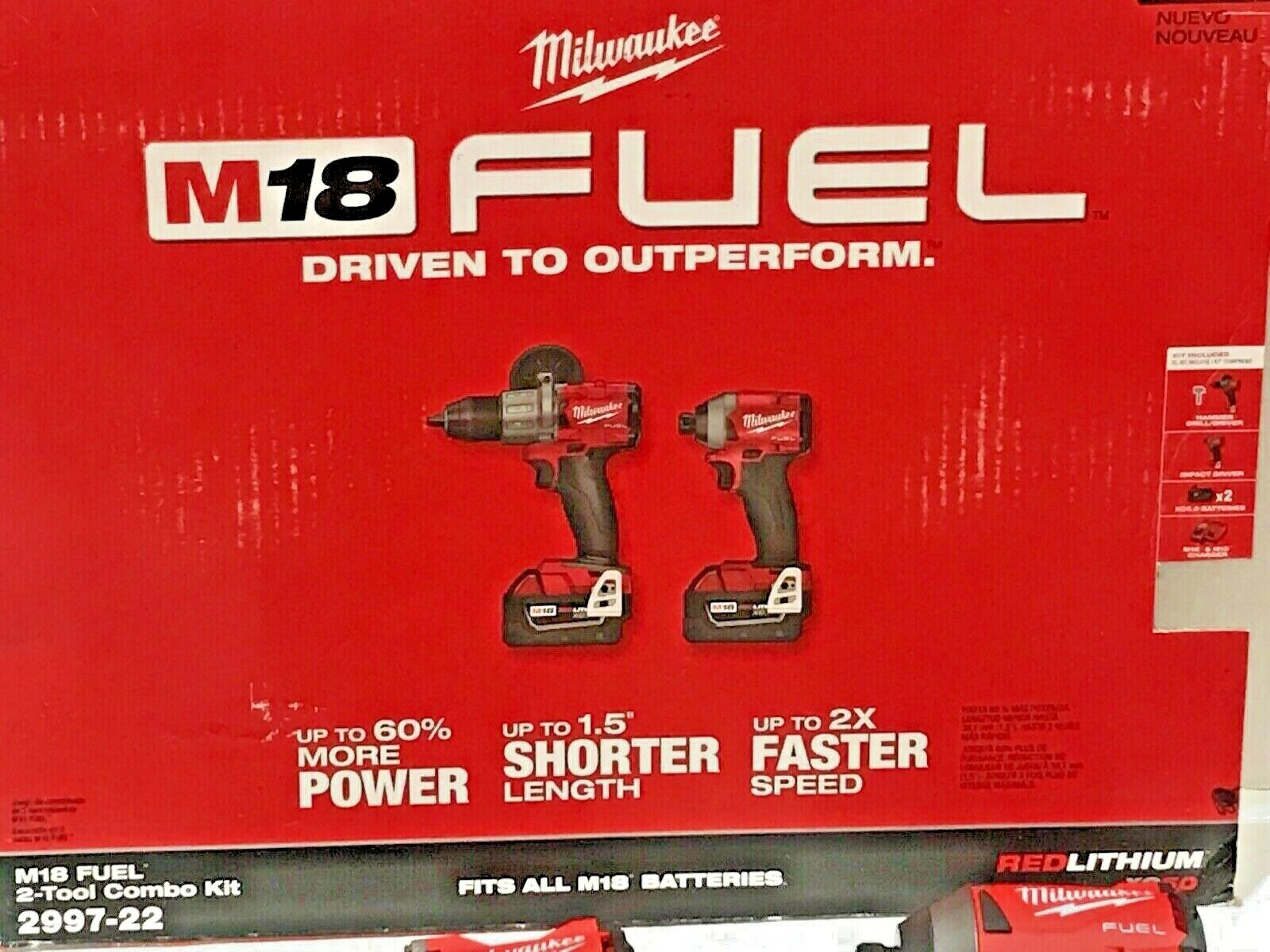 MILWAUKEE M18 GEN 3 FUEL 2 TOOL KIT 1/2 HAMMER DRILL 1/4 STU
