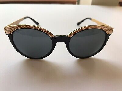 Versace Women's 4330 GB1/87 53020 Black/Gold Diamond Plate Sunglasses (Versace Diamond Sunglasses)