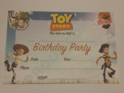 Toy Story Kids Birthday Party Invitations with Envelopes 25 Invites 4x6 Size