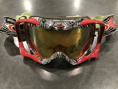 Used, OAKLEY CROWBAR TROY LEE DESIGNS SIGNATURE SERIES Discharged Red Google  for sale  Shipping to Canada