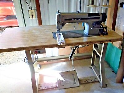 Consew 230 R-1 Industrial Sewing Machine Single Needle With Table Motor Extras