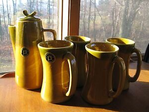 c1950 Laurentian coffee pot and 4 mugs for sale mint condition Kingston Kingston Area image 1