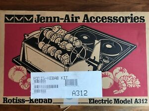 Jenn-Air Accessories Rotiss-kebab Electric Model A312 Brand New