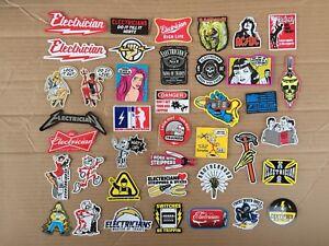 ELECTRICIAN (40) Hard Hat Stickers HardHat Sticker & Decals, Lineman Reddy IBEW