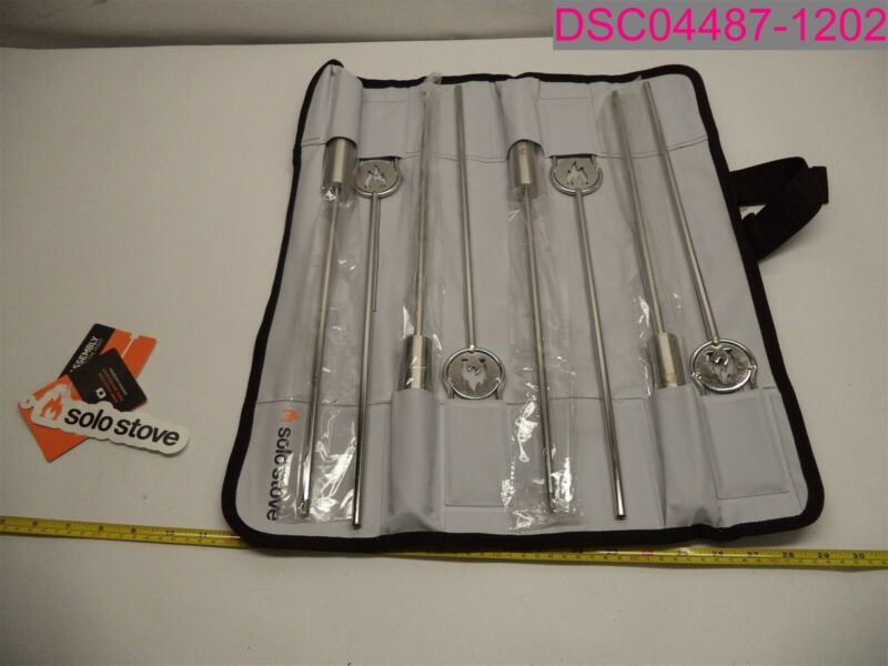 Solo Stove Roasting Stick Set of 4 Stainless Steel with Protectice Case