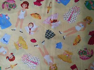 Brand New Paper Doll Print Fabric