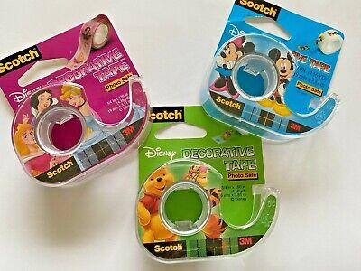 3 New 3m Scotch Tape Disney Mickeyminnie Pooh Princess Vintage Rare