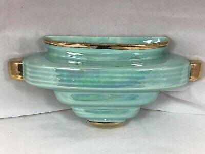 Vintage wall pocket planter Vase Sconce Sadler England Art Deco Lustre