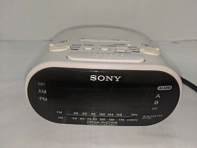 Sony Dream Machine ICF-C318 Radio Alarm Clock Dual AM FM White Auto Time Set
