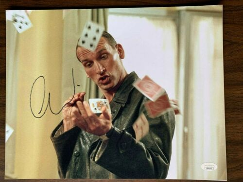 Doctor Who Christopher Eccleston Autographed Signed 11x14 Photo JSA COA #4