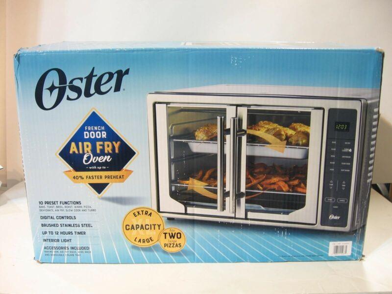 OPEN BOX Oster Digital French Door Air Fry Countertop Oven 1700 Watt TSSTTVFDDAF