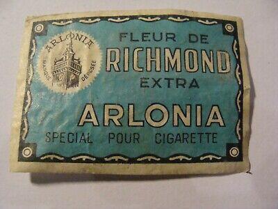 Etiquette Allumette - Tabac - Fleur de Richmond - ARLONIA - Belgium (142)