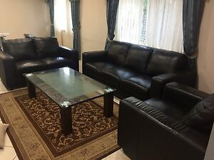 Leather Sofa (3+2+1 seater) Glenwood Blacktown Area Preview