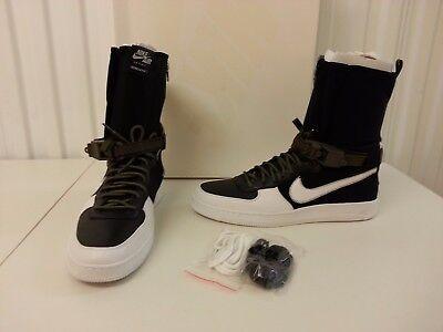 New Nike Af1 Downtown Hi Sp Acronym 649941 001 Nikelab X Black White Olive Sz 14