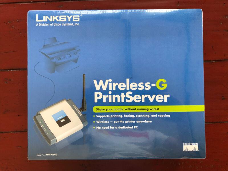 Wireless G Linksys Print Server Print Fax Machine Scan Copy WPSM54G - NEW