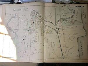 COPY OF 1885 HOLMSBURG PHILADELPHIA PA HOUSE OF CORRECTIONS PLAT 3 ATLAS MAP