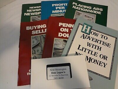 Don Lapre's Making Money Package Complete with Books, VHS Tape