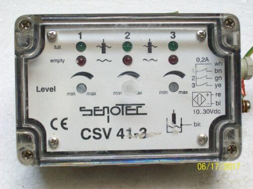 SENOTEC LEVEL CONTROLLER SENSOR10-30VDC , CSV 41-3
