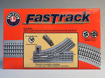 LIONEL FASTRACK 031 LEFT HAND REMOTE SWITCH O GAUGE train turnout track 6-81254 6 Remote Left Hand Switch