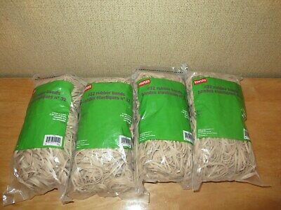 Lot Of 4 Bags Of Staples Rubber Bands Net Wt 1 Lbbag 32