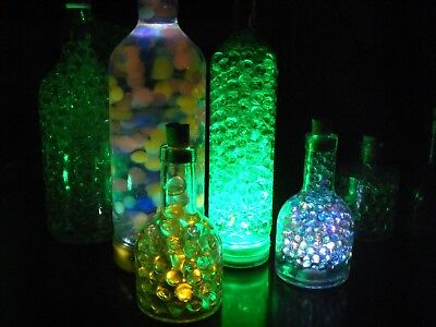 Complete Wedding Party Xmas Table Bottles With Lights Gel Beads Cork FREE P&P! - Table Centerpieces With Lights