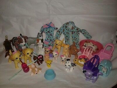 Barbie Doll Pet Cat Dog Lot Vet Coat Dress Carriers Food Bowls Bed Bottle